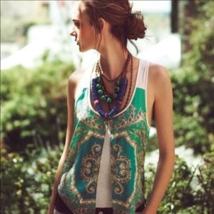 Anthropologie Leifnotes Parted Paisley tank